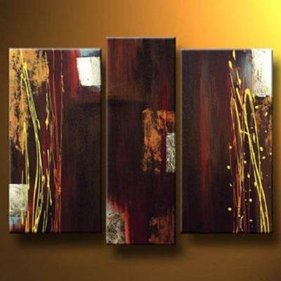 Burgundy Modern Canvas Art Wall Decor Abstract Oil Painting Wall Regarding Burgundy Wall Art (Image 12 of 20)