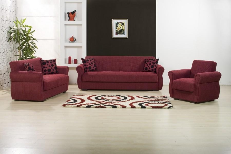 Burgundy Sofa Bed Pertaining To Burgundy Sectional Sofas (View 9 of 20)