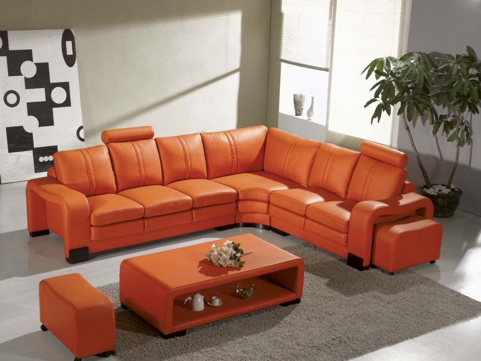 Burnt Orange Leather Sofa: 16 Extraoradinary Burnt Orange For Burnt Orange Leather Sofas (View 4 of 20)