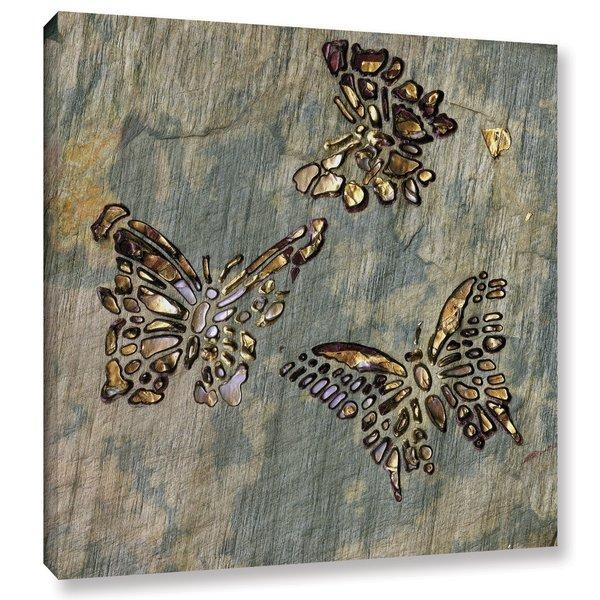 Butterfly Canvas Wall Art | Wayfair Throughout Butterfly Canvas Wall Art (Image 10 of 20)