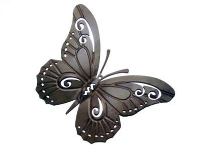 Butterfly Designs Wall Art: Butterfly Indoor Yard Metal Wall Art (View 14 of 20)