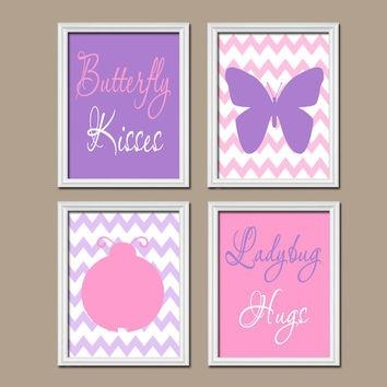 Butterfly Lady Bug Wall Art Canvas Or From Trm Design | Home With Girls Canvas Wall Art (View 16 of 20)