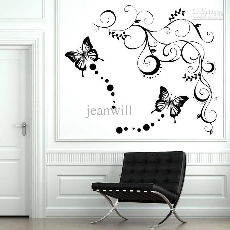 Butterfly Wall Decals   Roselawnlutheran Inside Butterflies Wall Art Stickers (Image 15 of 20)