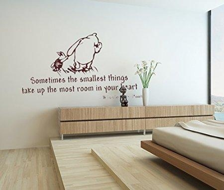 """Buy 19.7"""" X 23.6"""" Winnie The Pooh Sometimes The Smallest Things Pertaining To Winnie The Pooh Vinyl Wall Art (Photo 18 of 20)"""