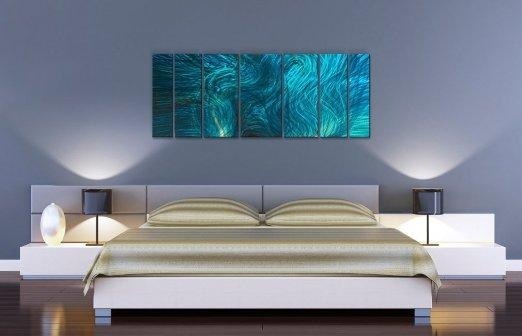 Buy Abstractash Carl Metal Wall Art In Turquoise – (View 9 of 20)