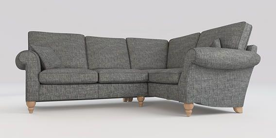 Buy Ashford Corner Sofa – Right Hand (4 Seats) Boucle Weave Dark In Ashford Sofas (Image 7 of 20)