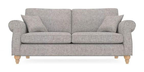 Buy Ashford Large Sofa (3 Seats) Boucle Blend Light Dove Lowturned For Ashford Sofas (Image 9 of 20)