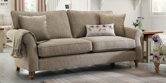 Buy Ashford Large Sofa (3 Seats) Versatile Check Lawson Dove With Regard To Ashford Sofas (Image 11 of 20)