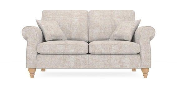 Buy Ashford Medium Sofa (3 Seats) Sumptuous Velour Light Stone Low Throughout Ashford Sofas (Image 13 of 20)