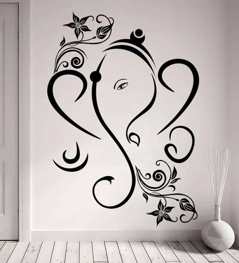 Buy Decor Kafe Creative Ganesha Vinyl Durable & Wall Sticker Regarding Ganesh Wall Art (View 10 of 20)
