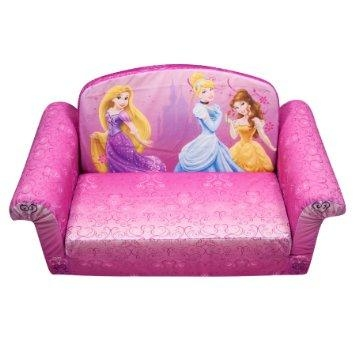 Buy Fun Furniture Flip Open Sofa Disney Princess Pink In Cheap With Regard To Disney Princess Sofas (View 6 of 20)