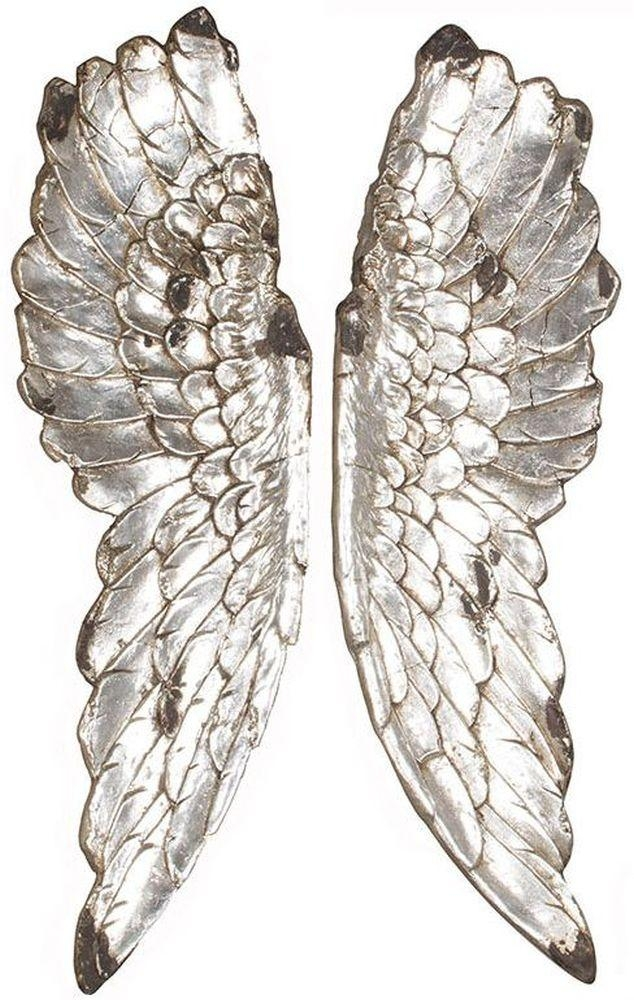 Buy Pacific Lifestyle Silver Poly Resin Angel Wings Wall Art Throughout Angel Wings Wall Art (Image 15 of 20)