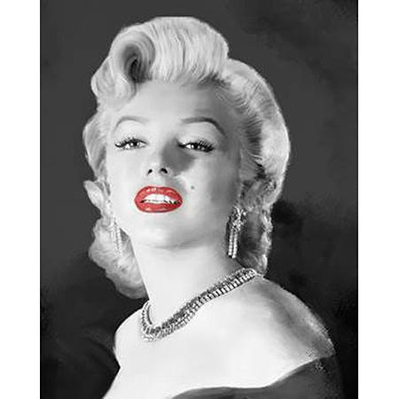 Buy Printed Sexy Marilyn Monroe Black White Red Oil Painting On For Marilyn Monroe Black And White Wall Art (Image 9 of 20)
