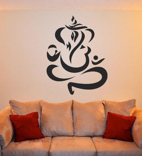 Buy Walltola Pvc Vinyl Modern Ganesh Art Wall Sticker Online Inside Ganesh Wall Art (View 4 of 20)