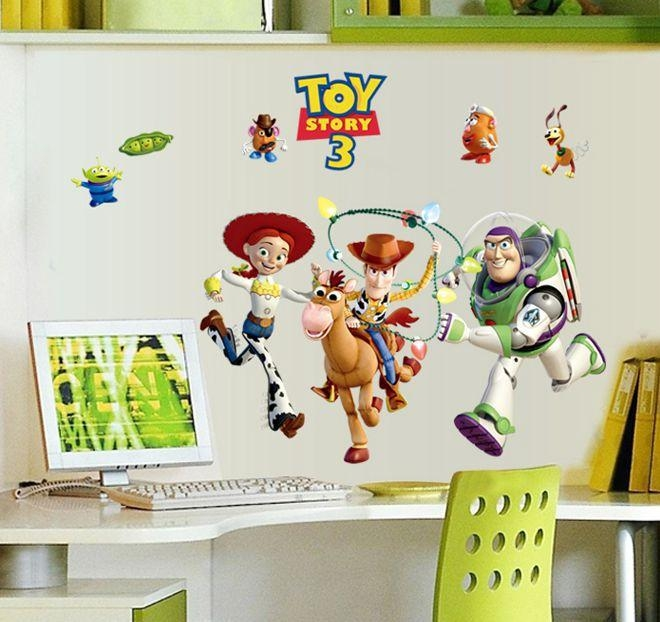 Buzz Lightyear Toy Story Wallpaper Vinyl Wall Stickers For Kids Inside Toy Story Wall Stickers (Image 5 of 20)