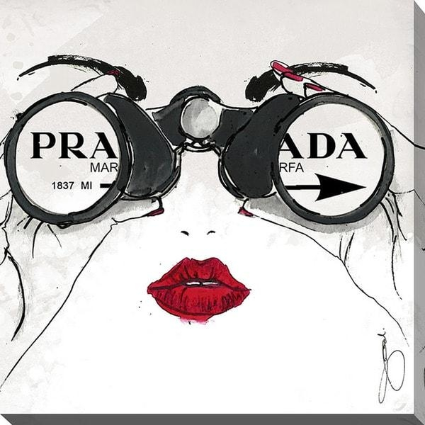 By Jodi 'i See Prada' Giclee Print Canvas Wall Art – Free Shipping Throughout Prada Wall Art (View 13 of 20)