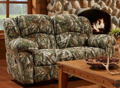 Cambridge Camo Double Reclining Loveseat & Reviews | Wayfair With Regard To Camouflage Sofas (Image 6 of 20)