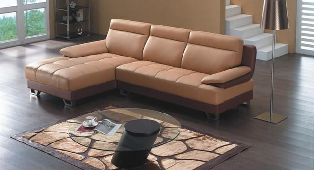 Camel Color Leather Sofa And Adjustable Headrests 2 Image 2 Of 19 In Camel Colored Leather Sofas (View 14 of 20)