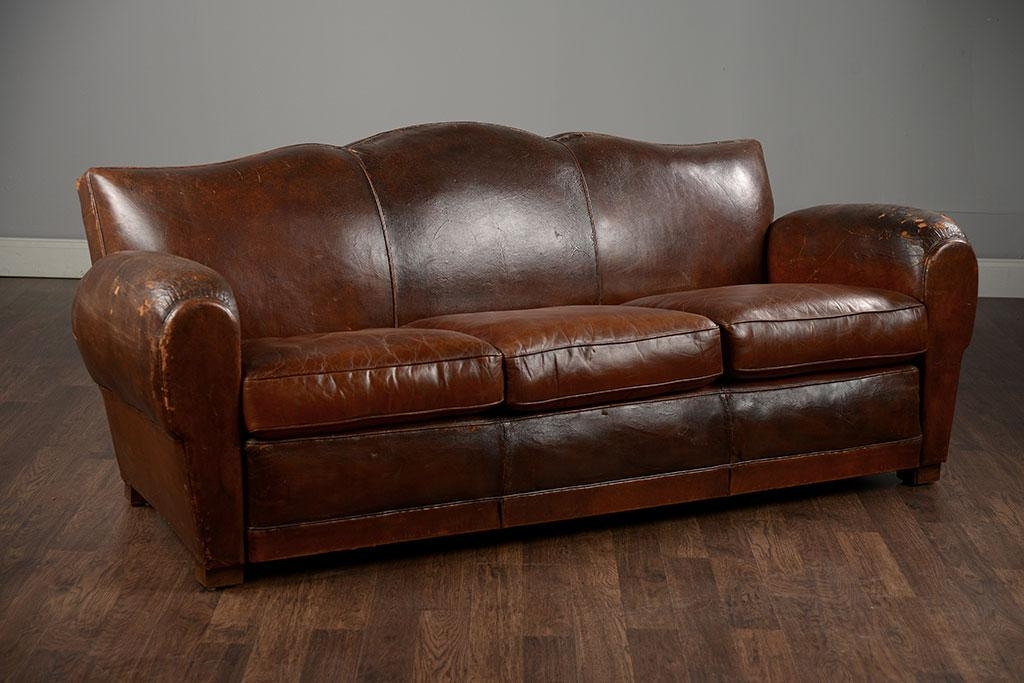 Camelback Leather Sofa For Decorate The Living Room — Home Design Within Camelback Leather Sofas (Image 9 of 20)