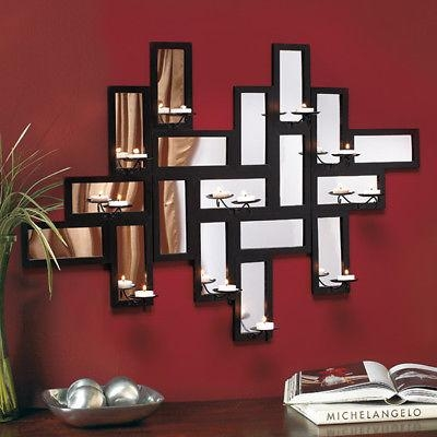 Candle Wall Art Decor, Contemporary Mirror Wall Art Modern With Contemporary Mirror Wall Art (Image 7 of 20)