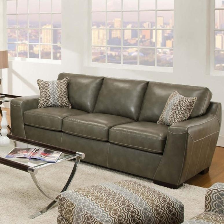 Cantina Quarry Loophole Breeze Bonded Leather Sofasimmons Throughout Simmons Leather Sofas And Loveseats (Image 9 of 20)
