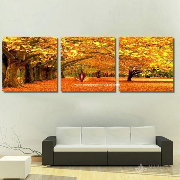 Canvas Art Painting Modern Canvas Prints Artwork Of Landscape With Regard To Three Piece Wall Art Sets (Image 11 of 20)