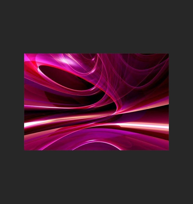 Canvas Print Wall Art – Fuchsia Pink Purple Violet Abstract – Home Pertaining To Purple Abstract Wall Art (Image 11 of 20)