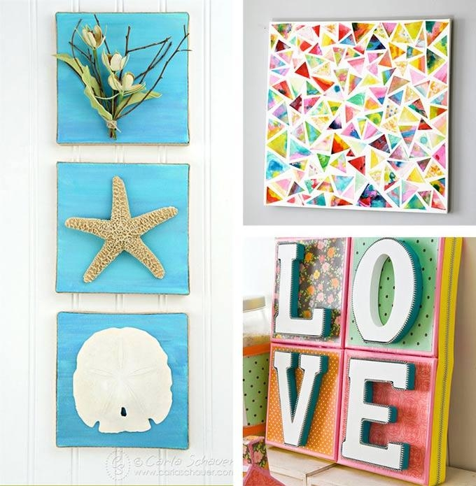 Canvas Wall Art Ideas: 30+ Canvas Tutorials Throughout Small Canvas Wall Art (View 9 of 20)