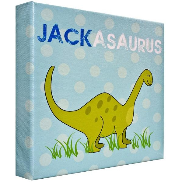 Canvas Wall Art Prints | Personalised Word Art | Childrens Canvas With Dinosaur Canvas Wall Art (Image 10 of 20)