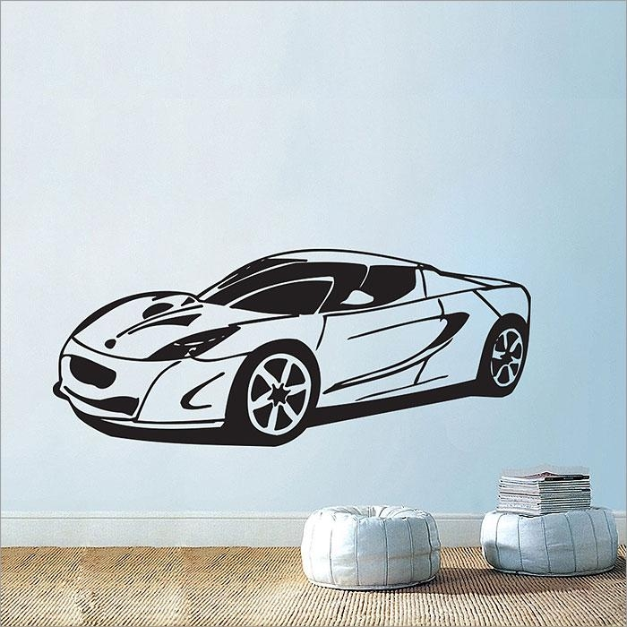 Car Vinyl Wall Art Decal Pertaining To Classic Car Wall Art (Image 7 of 20)