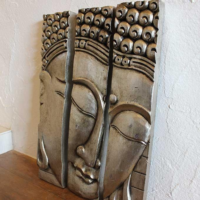 Caran2 | Rakuten Global Market: Buddha Wall Decals Wall Art Silver For Silver Buddha Wall Art (Image 9 of 20)