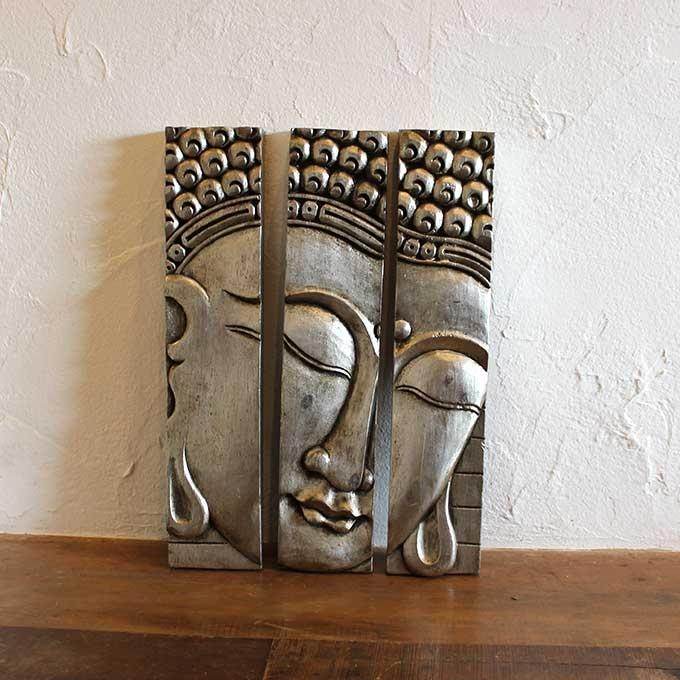Caran2 | Rakuten Global Market: Buddha Wall Decals Wall Art Silver With Regard To Balinese Wall Art (View 5 of 20)