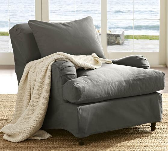 Carlisle Slipcovered Armchair | Pottery Barn Regarding Pottery Barn Chair Slipcovers (View 10 of 20)