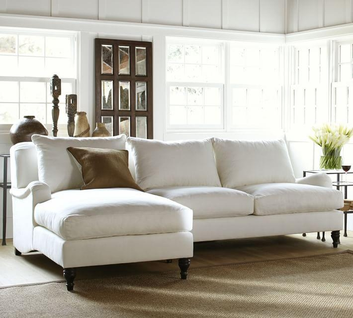 Carlisle Upholstered Sofa With Chaise Sectional | Pottery Barn Regarding Chaise Sofas (Image 8 of 20)