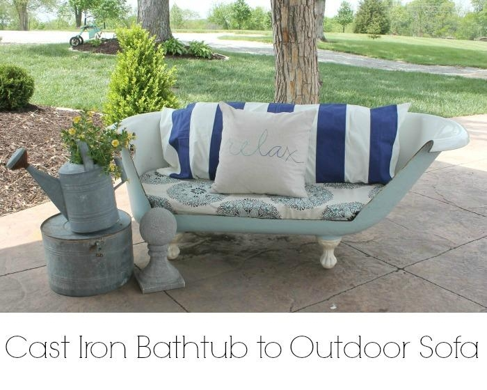 Cast Iron Bathtub To Outdoor Sofa {Part 1} – Onekriegerchick Intended For Clawfoot Tub Sofas (Image 7 of 20)