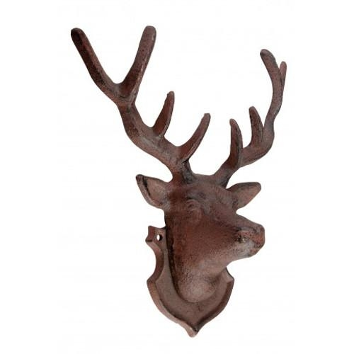 Cast Iron Stag Head | Ebay In Stags Head Wall Art (Image 10 of 20)