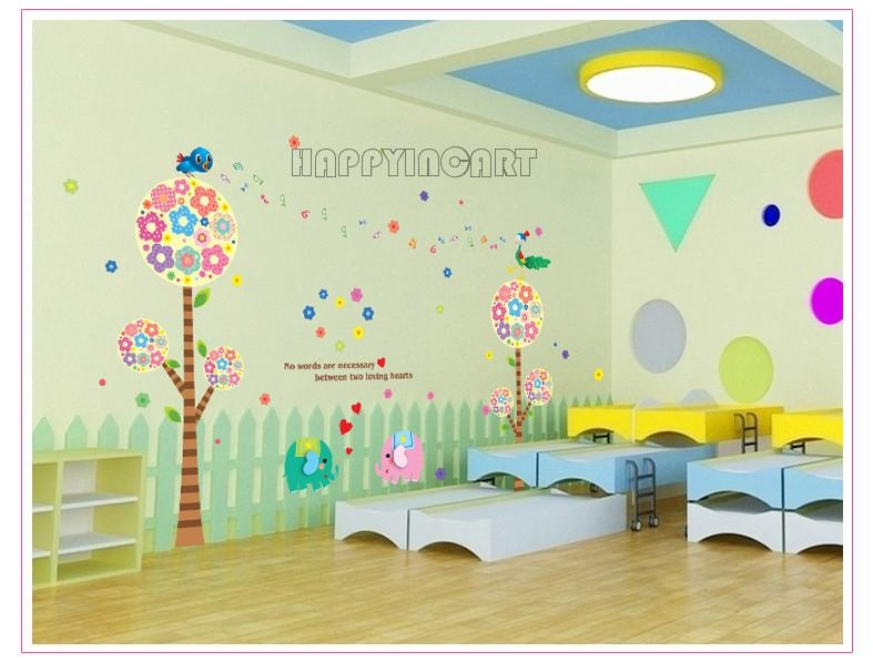 Casual Diy Removable Kids' Living Room Bedroom Classroom Preschool With Regard To Preschool Classroom Wall Decals (Image 12 of 20)
