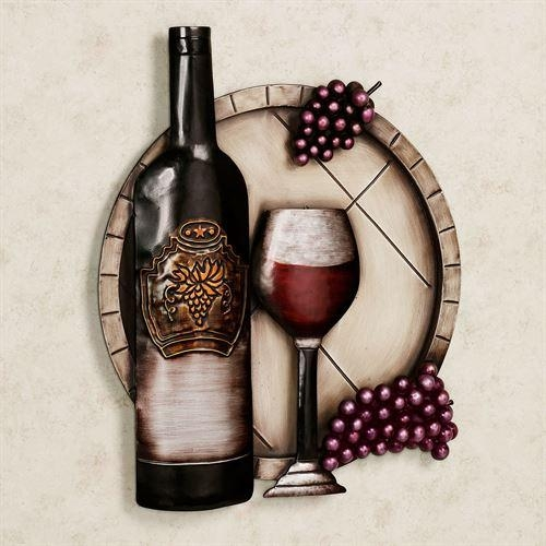 Cellar Reds Wine And Grape Metal Wall Art In Wine Metal Wall Art (Image 8 of 20)