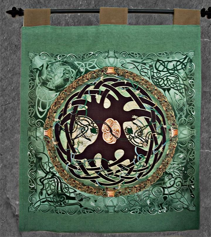 Celtic Tree Of Life Wall Hanging Celtic Artwelsh Artist Jen Intended For Celtic Tree Of Life Wall Art (Image 17 of 20)