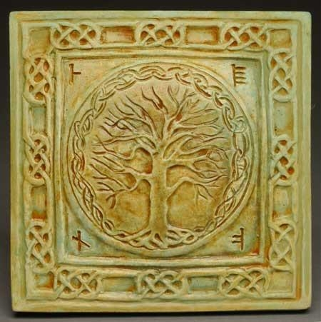 Celtic Tree Of Life Wall Plaque Midnight Moon Art For Home And Garden For Celtic Tree Of Life Wall Art (Image 18 of 20)