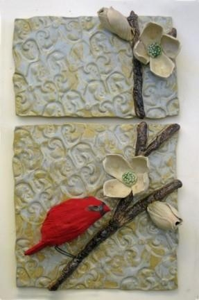 Ceramic Flower Wall Art – Foter With Regard To Polymer Clay Wall Art (Image 15 of 20)