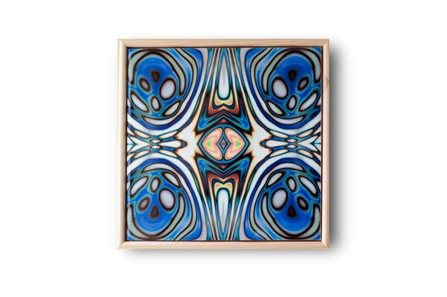 Ceramic Tile Art Abstract Wall Art Art Nouveau Style Blue For Ceramic Tile Wall Art (Image 11 of 20)