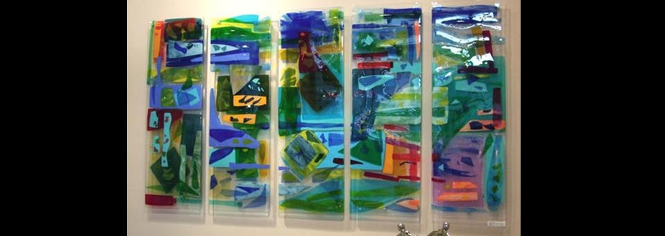 "Charleston Harbor"" Fused Glass Art Panels 