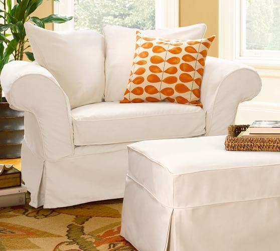 Charleston Slipcovered Chair And A Half | Pottery Barn Throughout Pottery Barn Chair Slipcovers (View 3 of 20)