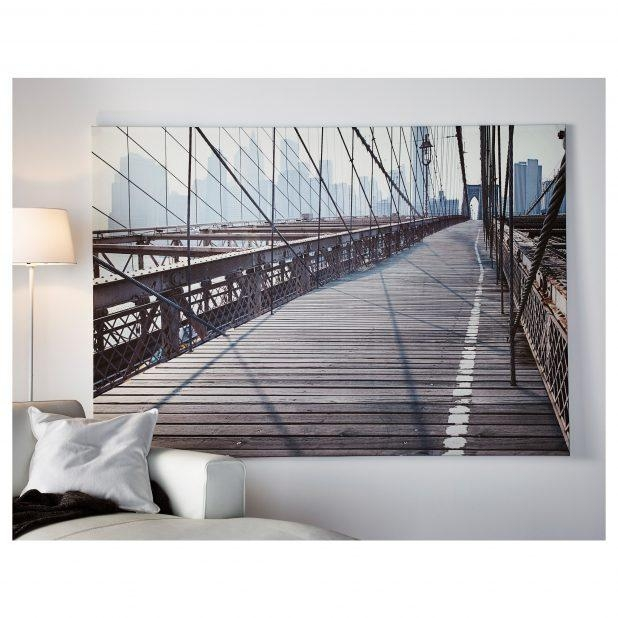 Charming Wall Decor Brooklyn Bridge Palette Knife Brooklyn Bridge In Brooklyn Bridge Metal Wall Art (Image 6 of 20)