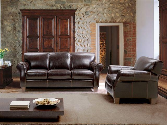 Chateau D'ax 1681 Transitional Leather Sofa With Rolled Arms And For Divani Chateau D'ax Leather Sofas (Image 5 of 20)
