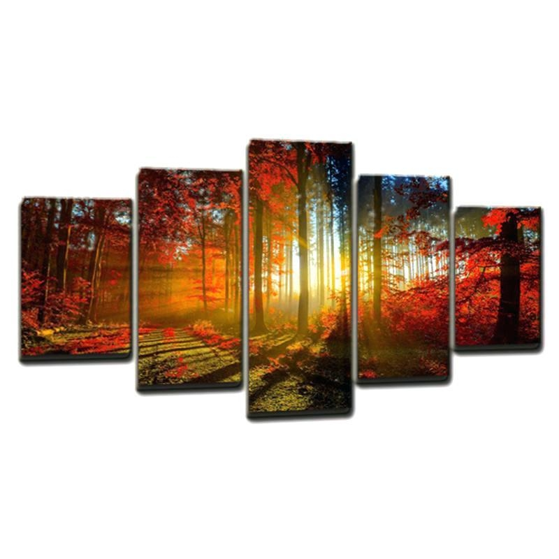 Cheap Multi Panel Canvas Art Modern Multi Panel Canvas Art Multi For Multiple Canvas Wall Art (Image 9 of 20)
