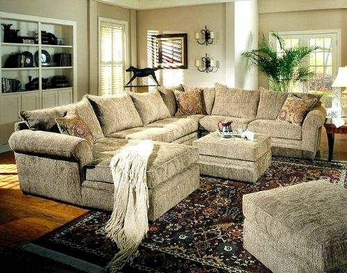 Chenille Reclining Sectional Sofas: 15 Wonderful Chenille Inside Chenille Sectional Sofas (Image 3 of 20)