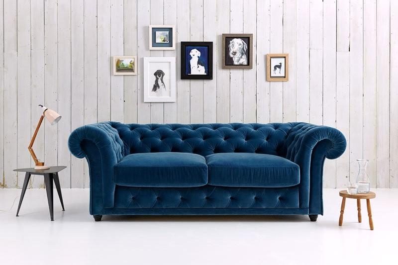 Chesterfield Sofa Bed | Churchill | Love Your Home Throughout Purple Chesterfield Sofas (Image 11 of 20)
