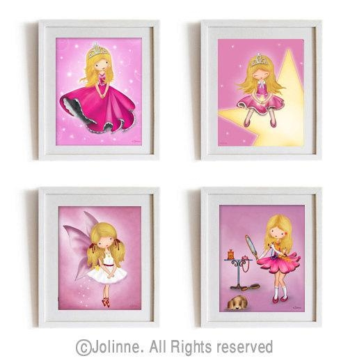 Children Wall Art Girls Room Art Prints Affordable Baby Girl Pertaining To Wall Art For Girls (Image 11 of 20)